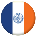 New York City Flag 58mm Mirror Keyring